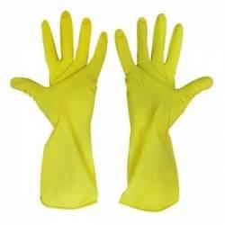Перчатки M желтые латексные A.D.M.