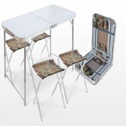 Набор стол пластиковая столешница 4 стула ССТ-К2 Nika