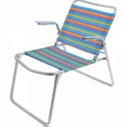 Кресло-шезлонг складное 1 пвх цветное К1 Nika