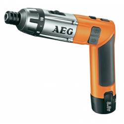 "AEG Отвертка аккумуляторная 3.6В 2х1.5АчLi-ion 200600обм 6.5Нм 0.6кг 6-ти гран 14"" чем"