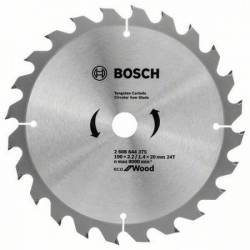 Пильный диск по дереву 190 х 20/16х24 ECO WO BOSCH