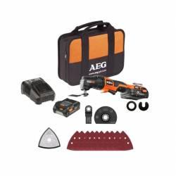 AEG Инструмент многофункциональный аккумуляторный 12В 2х1.5АчLi-ion сумка угловая дрельосцилир.