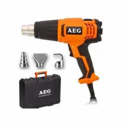 AEG Пистолет горячего воздуха  2000Вт 300-500лм 90-600грС 0.6кг чем 3нас