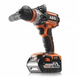 AEG Дрель аккумуляторный ударный 18В 2х4Ач ProLi-ion БЗП-13мм 0-4501650обм 70Нм 2кг чем доп.рукоятка Compact