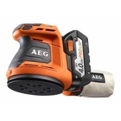 AEG Эксцентриковая шлифовальная машина аккумуляторная  18В 2х4АчLi-ion ф125мм 7000-11000обм ампл-2.4мм 2.1кг