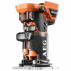 AEG Фрезер кромочный акк без щеточная  18В 17000-25000обм цанга-6-8мм 1.4кг кор плпуск подсв 2 базы бакк и зу