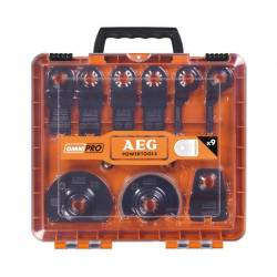 AEG Набор насадок для мультиинструментов  9шт в чем(2бим пол 4полотна для резки 1заподлицо 1скребок)