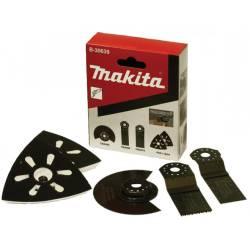 Makita Набор насадок для мультиинструментов,4шт(диск,2полотна,пластина),для работ по дереву