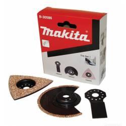 Makita Набор насадок для мультиинструментов,3шт(полотно,диск,платина),для работы с плиткой