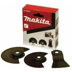 Makita Набор насадок для мультиинструментов,3шт(2диска,шабер),для работы с напольн покрытием