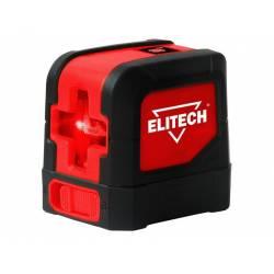 ELITECH Нивелир лазер,2х1.5В(АА),20м,±1,55м,0.25кг,гор/верт луч,очки,штатив,зажим,мишень,кейс