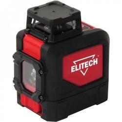 ELITECH Нивелир лазер,3х1.5В(АА),3080м,±310м,0,4кг,гор.360град/верт.120град луч,чехол