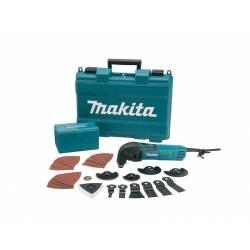 Makita Инструмент многофункциональный ,320Вт,6000-20000обмин,1.4кг,чем,эл стабилизация,плавный пуск,н-р оснастки(38шт)