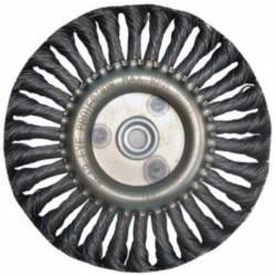 Щетка дисковая для УШМ плоская 125/22мм крученая КАЛИБР