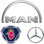 Грузовые автомобили MAN, MB, SCANIA